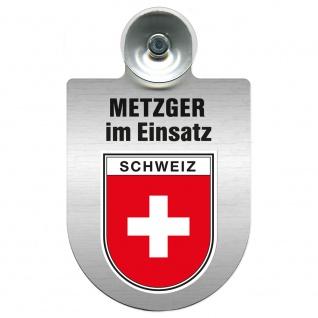 Einsatzschild Windschutzscheibe incl. Saugnapf - Metzger im Einsatz - 393825 - Region Schweiz