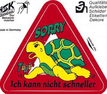 PVC Aufkleber Auto-Applikation Spass-Motive und Sprüche - Sorry ich ... - 303433 - Gr. ca. 11 x 10 cm