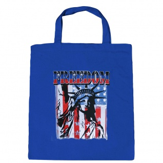 Baumwolltasche mit Print USA Amerika Freedom Freiheitsstatue - B10983 - Vorschau 2