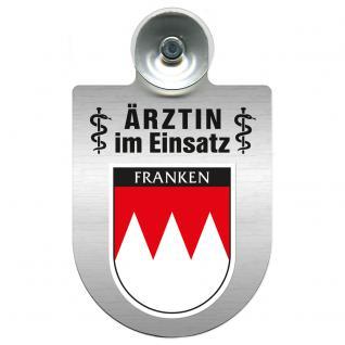 Einsatzschild Windschutzscheibe incl. Saugnapf - Ärztin im Einsatz - 309479-18 Region Franken