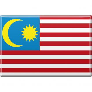 Kühlschrankmagnet - Länderflagge Malaysia - Gr.ca. 8x5, 5 cm - 38076 - Magnet