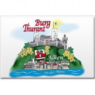 Kühlschrankmagnet - Burg Thurant - Gr. ca. 8 x 5, 5 cm - 38738 - Küchenmagnet