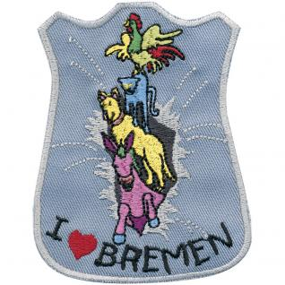 AUFNÄHER - Bremen - 00045 - Gr. ca 8cm x 10cm - Patches Stick Applikation