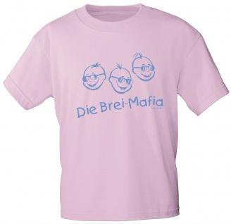 Kinder T-Shirt mit Aufdruck - Die Brei-Mafia - 06968 - rosa - Gr. 86-164