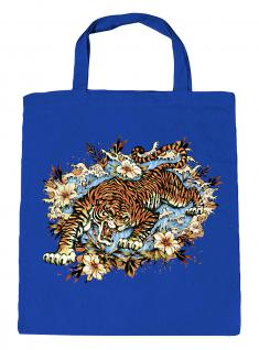 (U10973)Umweltfreundliche Baumwoll - Tasche , ca. 28 x 43 cm mit Aufdruck in 7 Farben blau