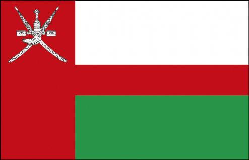 Schwenkflagge mit Holzstock - Oman - Gr. ca. 40x30cm - 77124 - Länderflagge, Stockländerfahne