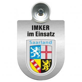 Einsatzschild Windschutzscheibe incl. Saugnapf - Imker im Einsatz - 309382-0-10 - Region Saarland