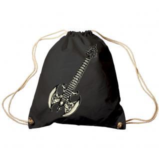 Trend-Bag Turnbeutel Sporttasche Rucksack mit Print - Gitarre Elektrogitarre - TB10852 schwarz