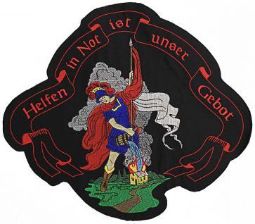 Rückenaufnäher große Applikation - 08596 - Gr. ca. 36x30 cm Stick - Emblem Feuerwehr