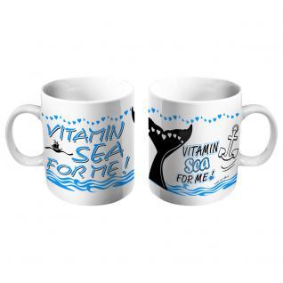 Motivtasse mit Print Vitamin Sea For Me 57582 weiss
