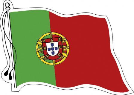 Aufkleber Autoaufkleber Länderfahne wehend - Portugal - 301302 - Gr. ca. 95mm x 70mm