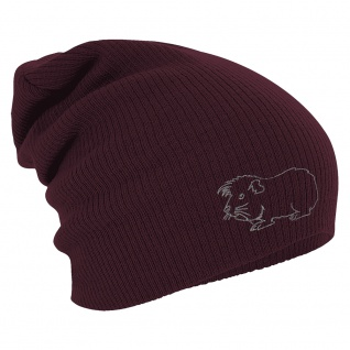 Longbeanie Slouch-Beanie Wintermütze Meerschweinchen Kontur 55133