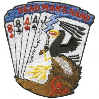 Aufnäher - Kartenspiel - 04963 - Gr. ca. 8 x 8, 5 cm - Patches Stick Applikation