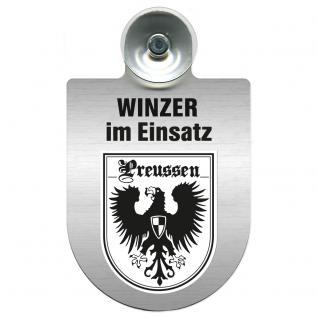 Einsatzschild Windschutzscheibe incl. Saugnapf - Winzer im Einsatz - 309466-19 Region Preussen