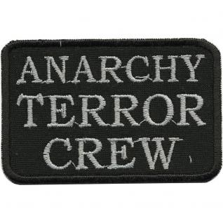 AUFNÄHER - Anarchy Terror Crew - 01952 - Gr. ca. 8, 5 x 5, 5 cm - Patches Stick Applikation