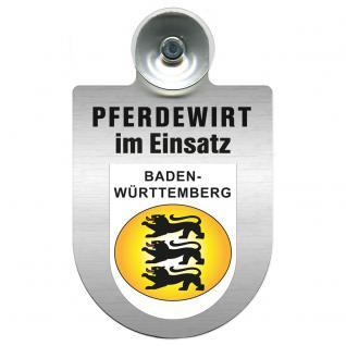 Einsatzschild Windschutzscheibe incl. Saugnapf - Pferdewirt im Einsatz - 309386-1 - Region Baden-Württemberg