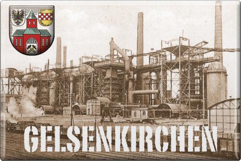 Küchenmagnet - Gelsenkirchen - Gr. ca. 8 x 5, 5 cm - 38279 - Magnet Kühlschrankmagnet