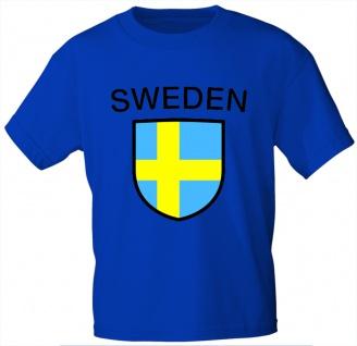 Kinder T-Shirt mit Print - Sweden - Schweden - 76162 - blau - Gr. 98/104