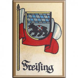 Küchenmagnet - Wappen Freising - Gr. ca. 8 x 5, 5 cm - 37521 - Magnet Kühlschrankmagnet