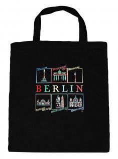 (10690-Tasche) Umweltfreundliche Baumwoll - Tasche , ca. 28 x 43 cm mit Aufdruck? Berlin?