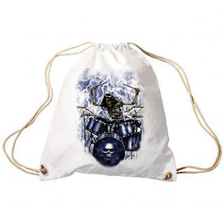 Trend-Bag Turnbeutel Sporttasche Rucksack mit Print - Ghost Drummer - TB65307 schwarz