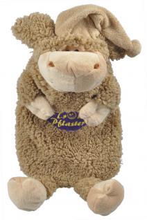 Wärmflasche Schaf Wollschäfchen mit Einstickung ? Trostpflaster - 39318 braun