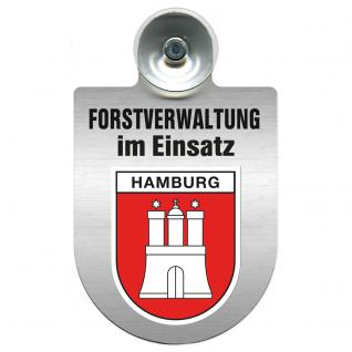 Einsatzschild für Windschutzscheibe incl. Saugnapf - Forstverwaltung im Einsatz - 309732-15 Region Hamburg