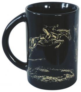 Keramiktasse mit Pferdemotiv - Springreiten - 57346 - ©Kollektion Bötzel