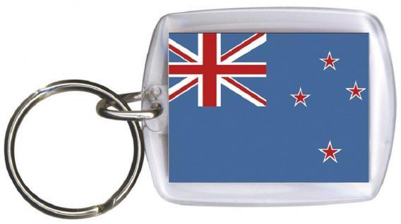 Schlüsselanhänger Anhänger - NEUSEELAND - Gr. ca. 4x5cm - 81117 - Keyholder WM Länder