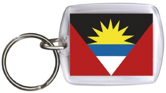 Schlüsselanhänger - ANTIGUA & BARBUDA - Gr. ca. 4x5cm - 81011 - WM Länder