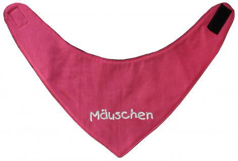 Dreiecktuch Halstuch mit Einstickung - Mäuschen - 12221 rot