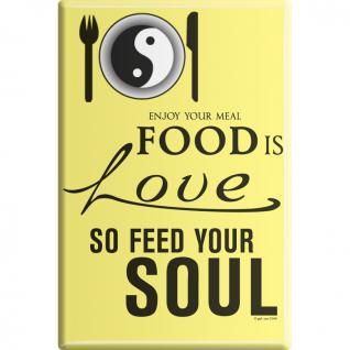KÜCHENMAGNET - Food is Love ... - Gr. ca. 8 x 5, 5 cm - 38914 - Magnet