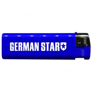 Einwegfeuerzeug mit Motiv - Trucker - German Star - 01159 versch. Farben blau