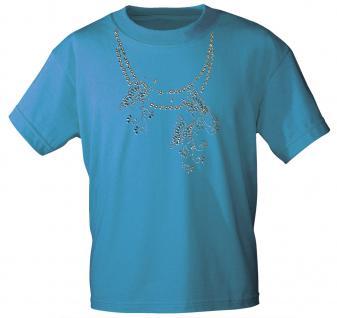 (12852) T- Shirt mit Glitzersteinen Gr. S - XXL in 13 Farben XXL / türkis