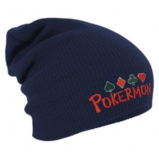 Longbeanie Slouch-Beanie Wintermütze Pokermon 54865 Navy