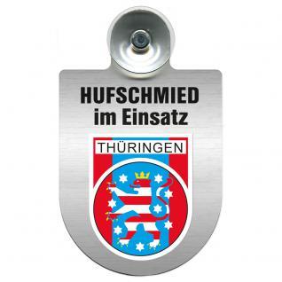Einsatzschild Windschutzscheibe incl. Saugnapf - Hufschmied im Einsatz - 309391-13 - Region Thüringen