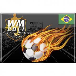 (38953-1) Magnet - Fußball WM 2014 - Gr. ca. 8 x 5, 5 cm - 38953 - Küchenmagnet