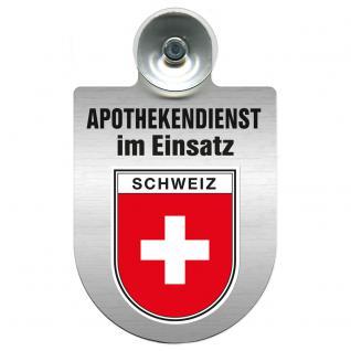 Einsatzschild Windschutzscheibe incl. Saugnapf - Apothekendienst im Einsatz - 309397-22 Region Schweiz