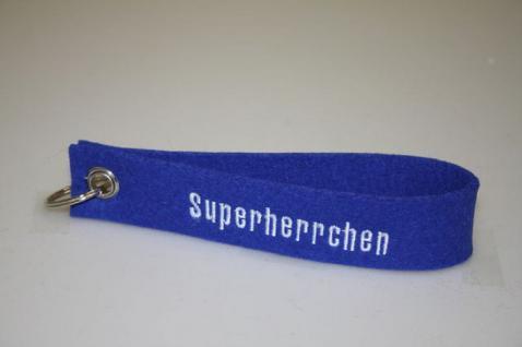 Filz-Schlüsselanhänger mit Stick - Superherrchen - Gr. ca. 17x3cm - 14408