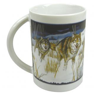 Tasse Keramiktasse Print Wölfe Wolf 57202
