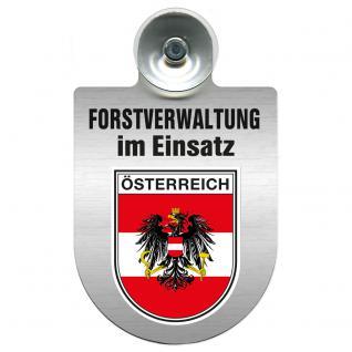 Einsatzschild für Windschutzscheibe incl. Saugnapf - Forstverwaltung im Einsatz - 309732-20 Region Österreich