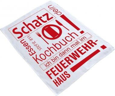 Baumwoll Geschirrtuch - Küchentuch - Trockentuch - Feuerwehr - 31381