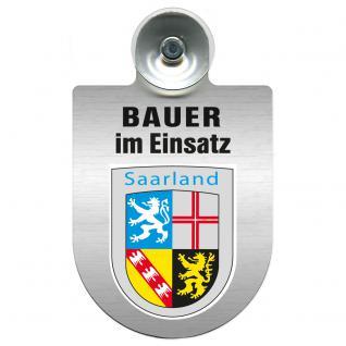 Einsatzschild Windschutzscheibe incl. Saugnapf - Bauer im Einsatz - 309736-10 Region Saarland