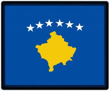 Mousepad Mauspad mit Motiv - Kosovo Fahne Fußball Fußballschuhe - 82086 - Gr. ca. 24 x 20 cm