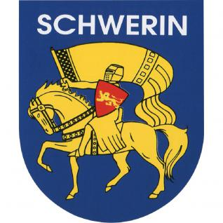 Aufkleber - Schwerin Wappen - 301487 - Gr. ca. 6 x 8 cm