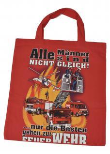 Umweltfreundliche Baumwolltasche mit Aufdruck - Nur die Besten ... - 08911 - Feuerwehr