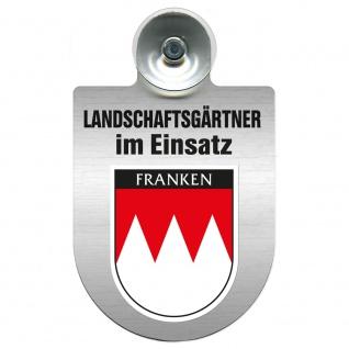 Einsatzschild Windschutzscheibe incl. Saugnapf - Landschaftsgärtner im Einsatz - 309375 - Region Franken