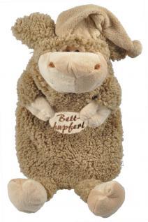 Wärmflasche Wollschäfchen mit Einstickung ? Betthupferl - 39308 braun