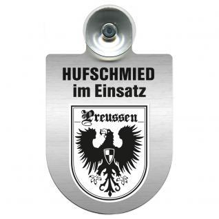 Einsatzschild Windschutzscheibe incl. Saugnapf - Hufschmied im Einsatz - 309391-19 - Region Preussen