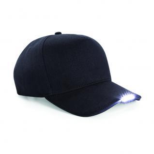 Baumwoll - Cap mit LED Licht - Beleuchtung - 69071-schwarz - Baumwollcap Baseballcap Hut Cappy Schirmmütze